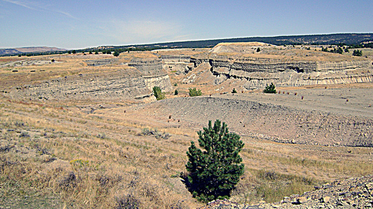 Die Darrow Pits - Abbaugebiet in South Dakota.