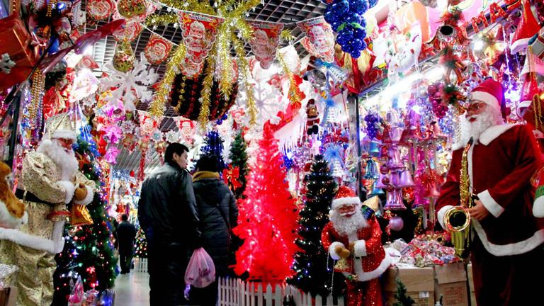Weihnachts-Deko in China