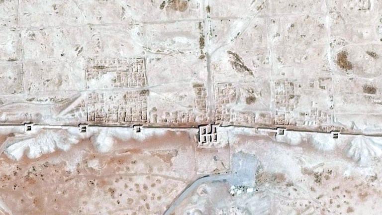 Die Ruinen der griechischen Stadt Dura Europos, gegründet 300 v. Chr., vor dem Bürgerkrieg 2011.