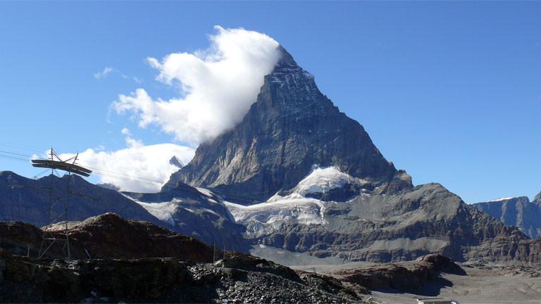 Das Matterhorn in den Walliser Alpen