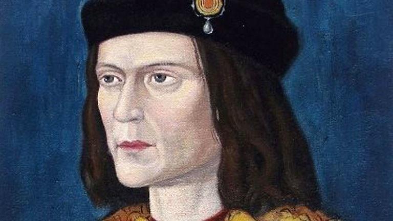 Ein Gemälde, das König Richard III. zeigt.