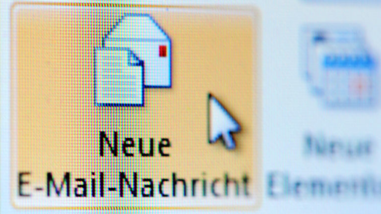 "Microsoft Outlook: Symbol ""Neue E-Mail-Nachricht"""