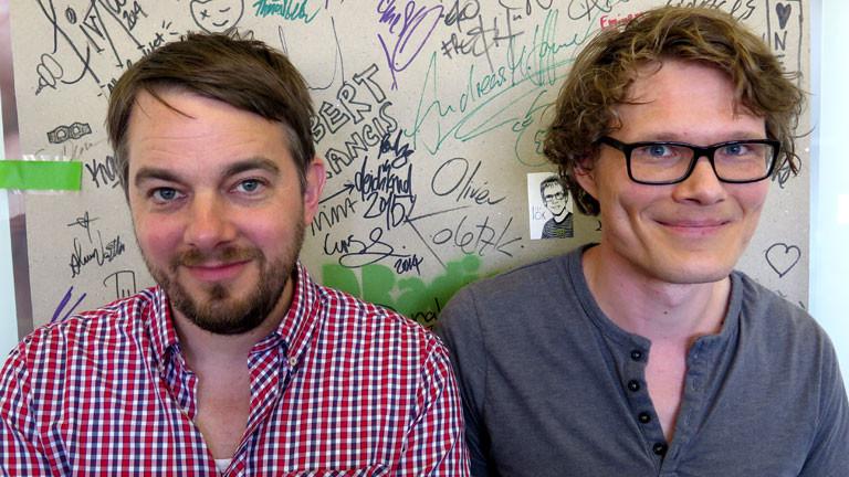 Musiker Oliver Minck und Roland Münchow von der Band Die Sonne.