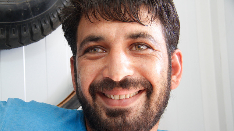 Der Bike-Shop-Besitzer Mohammed