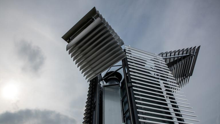 Futuristische Anmutung des Smog Free Towers