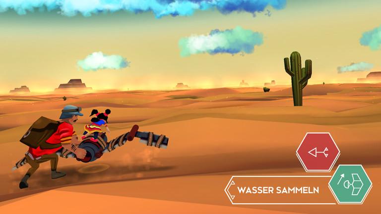 """Eine Szene aus dem Tablet-Spiel """"Cloud Chasers""""."""