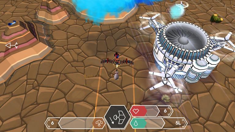 "Eine Szene aus dem Tablet-Spiel ""Cloud Chasers - Journey of Hope""."