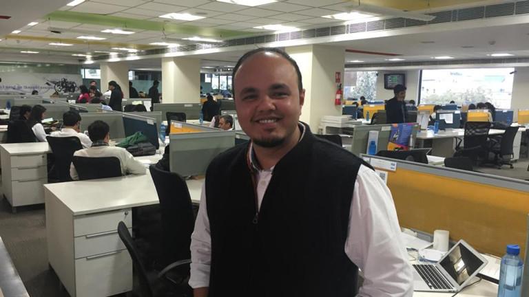 """Sudhanshu Gupta hat den """"Marktplatz"""" von pay tm aufgebaut. Das Potenzial ist riesig. 300 Millionen Inder haben inzwischen ein Smartphone, die meisten haben ihres in den vergangenen zwei, drei Jahren gekauft. Sudhanshus Ziel: 500 Millionen Nutzer bis 2020."""