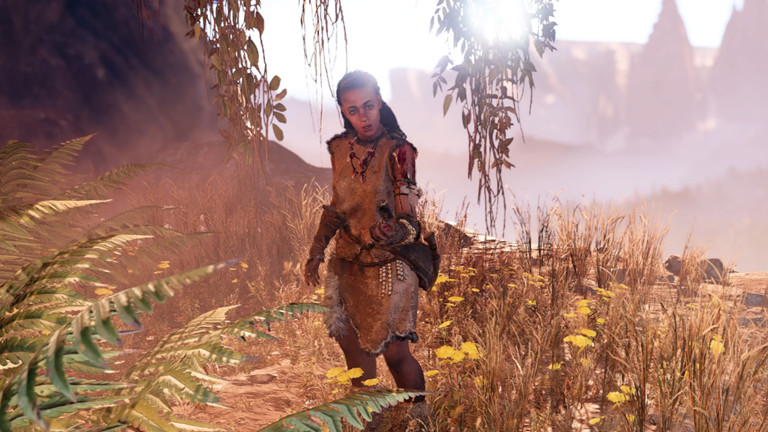 Eine Szene aus dem Spiel Farcry Primal.