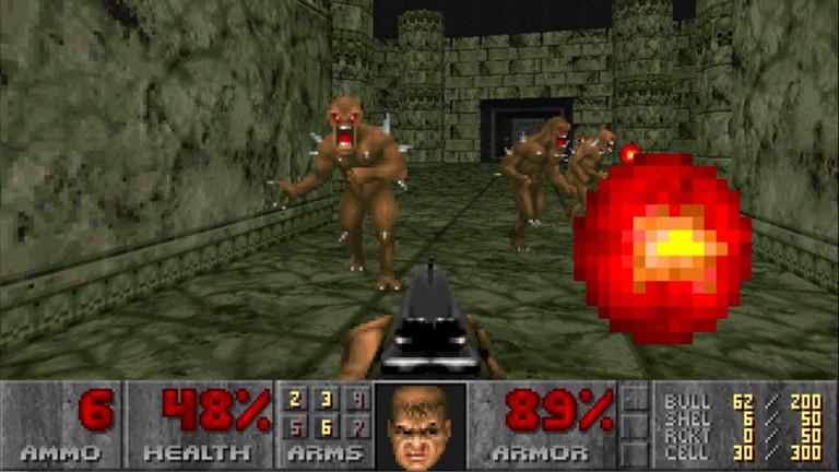Eine Szene aus dem Spiel Doom.