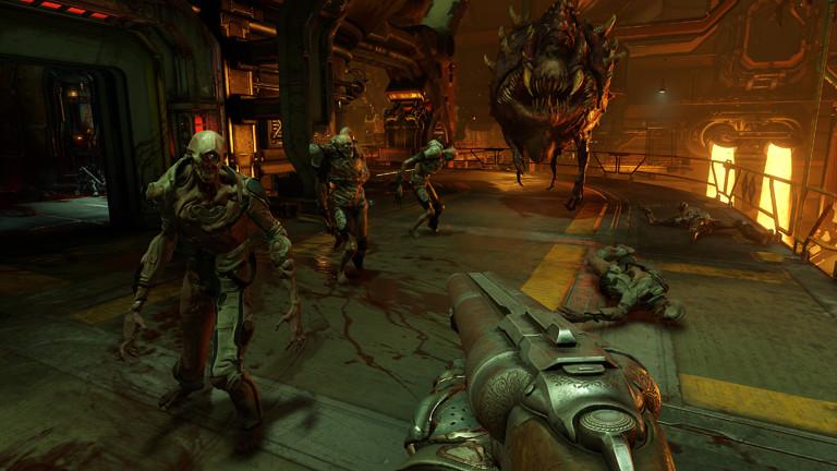 Eine Szene aus dem Computerspiel Doom.