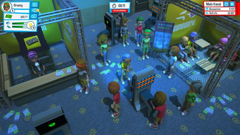 Eine Szene aus dem Spiel Youtuber's Life.
