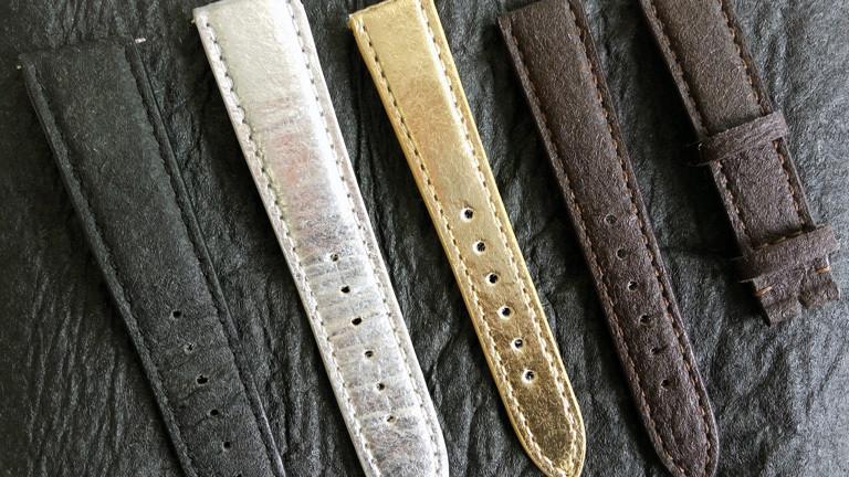 Armbänder für Uhren aus Piñatex