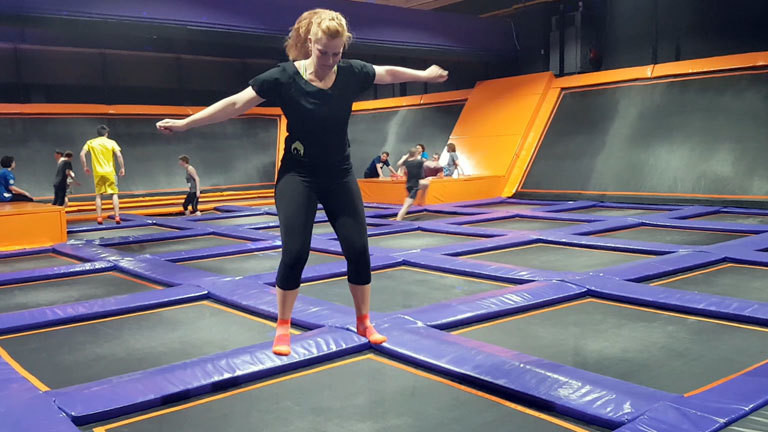 Caro Köhler im Jump House