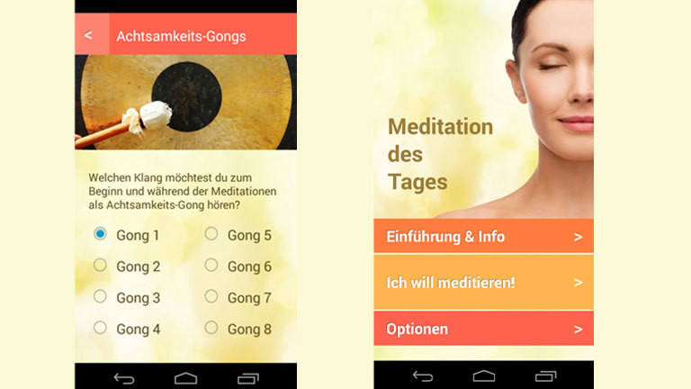 "Screenshot App ""Meditation des Tages"""