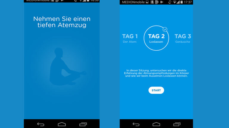 "Screenshot ""Achtsamkeit"""