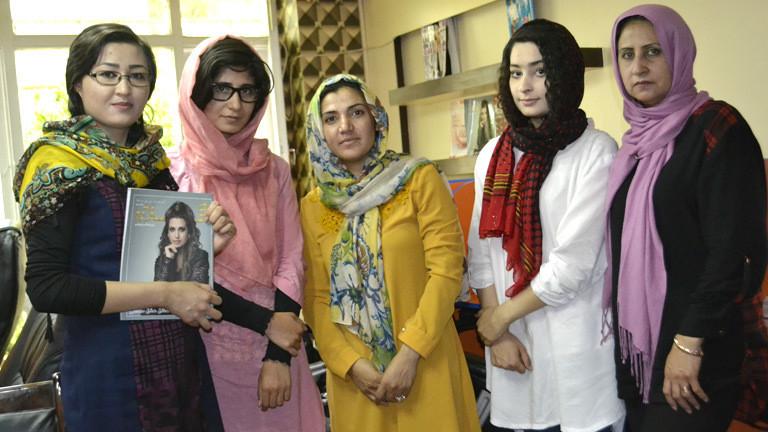 Die Macherinnen des afghanischen Frauenmagazins Gellarah.