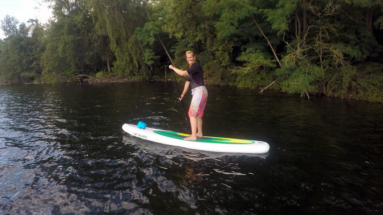 Caro beim Stand Up Paddling 52weeks52sports