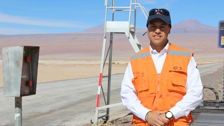 Nicolas Jimenez ist Wachmann. Er bewacht Alma, das größte Radioteleskop der Welt.