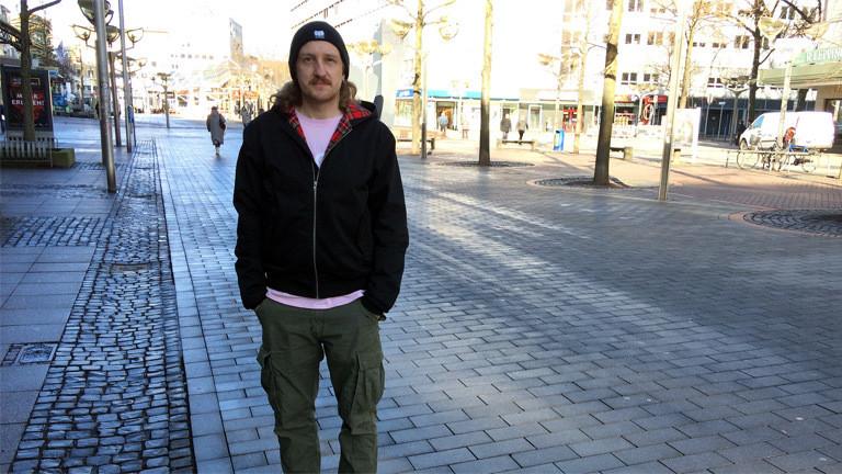 Innenstadt-Bewohner in Duisburg Daniel Sehstedt.