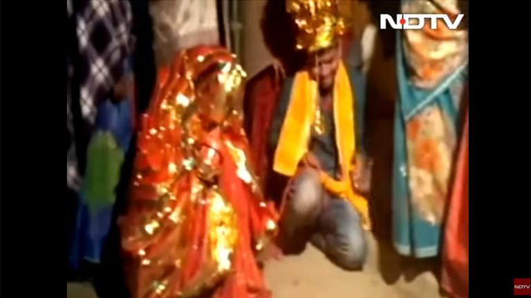 Screenshot aus einem Video zur Eheschließung von Vinod Kumar.