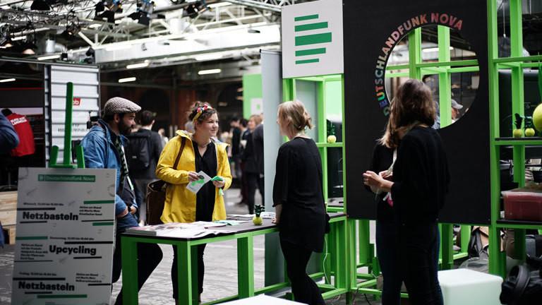 Stand Deutschlandfunk Nova re:publica 2018