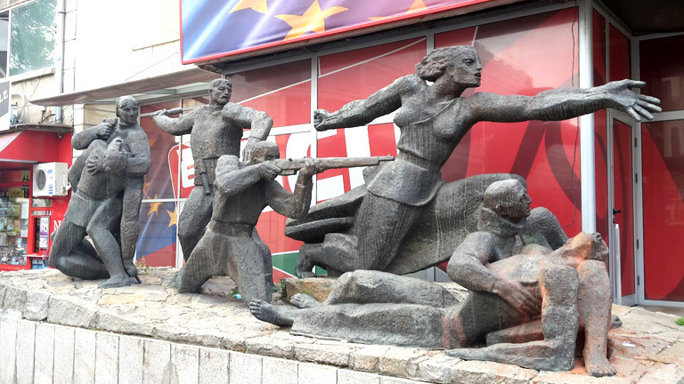 Ein solzialistisches Denkmal in der bulgarischen Hauptstadt Sofia.