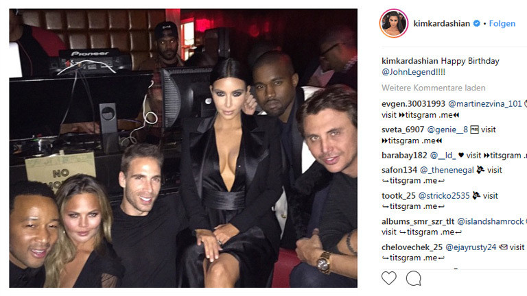 Kim Kardashian gratuliert John Legend mit einem Instagram-Post zum Geburtstag.