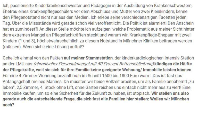 Auszug aus dem Brandbrief von Isabell Wäß.