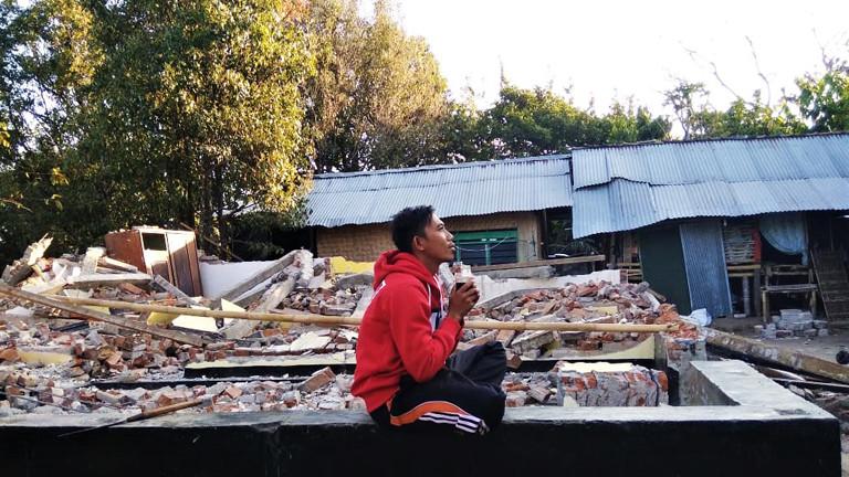 Lombok nach dem Erdbeben.