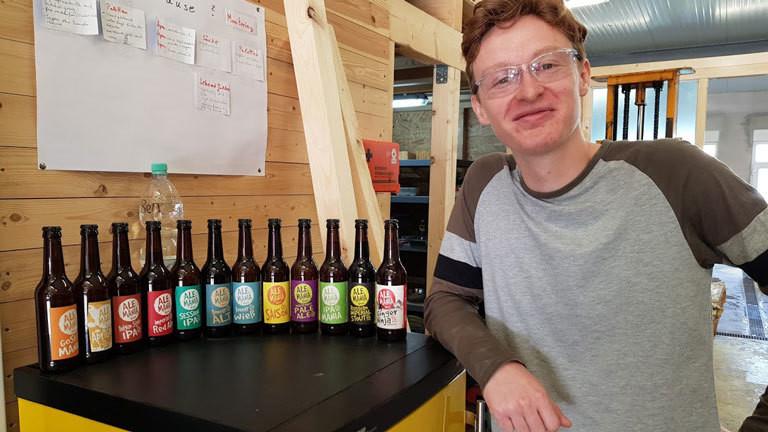 Ben Palmer mit seinem eignen Craft-Beer