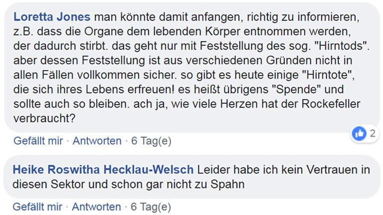 Kommentare von Facebook-Usern auf der Deutschlandfunk-Nova-Seite.