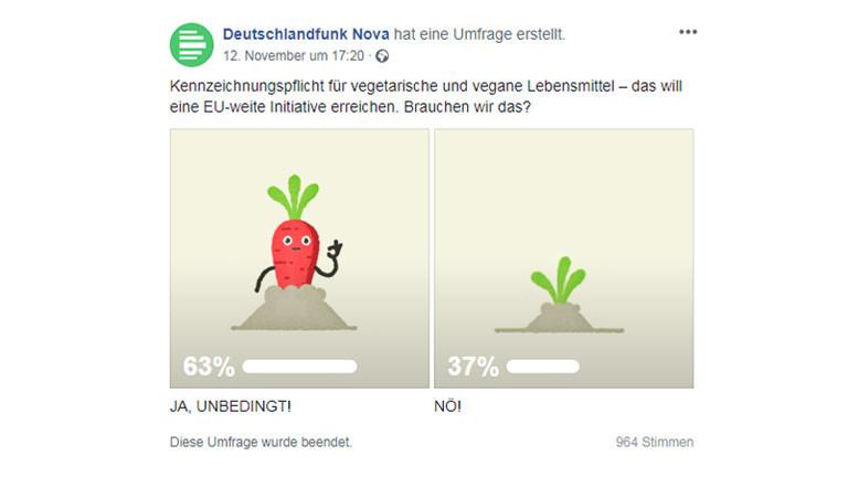 Screenshot Deutschlandfunk Nova Facebookseite