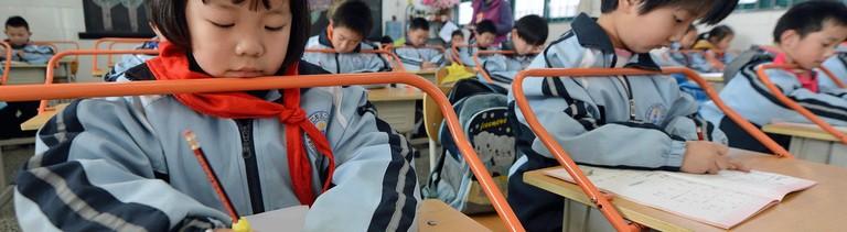 Schulkinder in China.