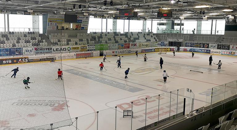 Eishockey-Stadion in Weißwasser.