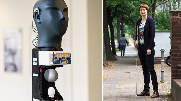 Annalena Knors nutzt im Alltag bisher nur ihren Blindenlangstock. Sie kann sich aber vorstellen, dass sie demnächst auch einen virtuellen Blindenstock in der Jackentasche mit sich trägt, der ihr dabei sicher durch die Stadt zu kommen.