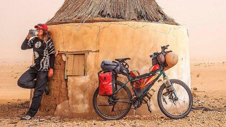 Heike Pirngruber reist mit dem Fahrrad um die Welt.
