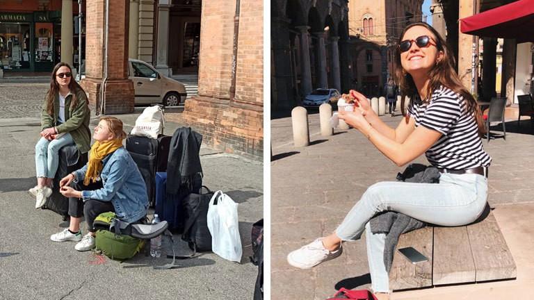 Erasmus-Studentin Leonie in Bologna.