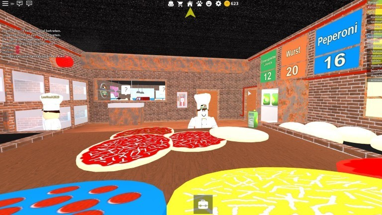 """Screenshot aus dem Spiel """"Arbeite in einer Pizeria""""."""