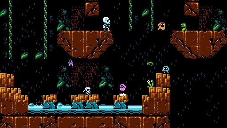 """Pixelige Grafik für das 80er-Jahre-Feeling im Spiel """"Micro Mages"""" von Morphcat Games"""