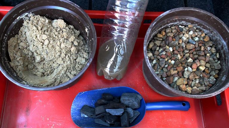 Kohle, Sand und Kies