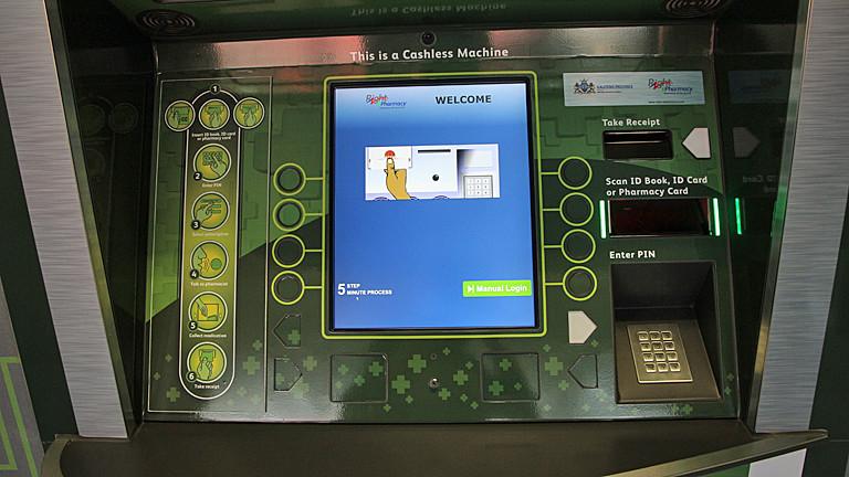 Die Bedienoberfläche des Apothekenautomaten