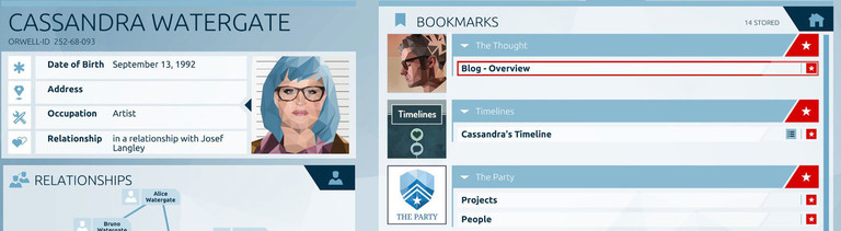 "Screenshot aus dem Game ""Orwell"""