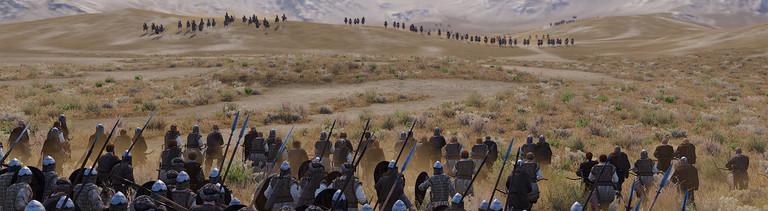 Screenshot: Szene aus dem Spiel Mount&Blade Bannerlord