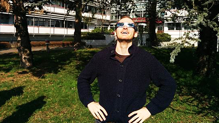DRadio-Wissen-Hörer Thomas Pollok genießt die Sonnenfinsternis