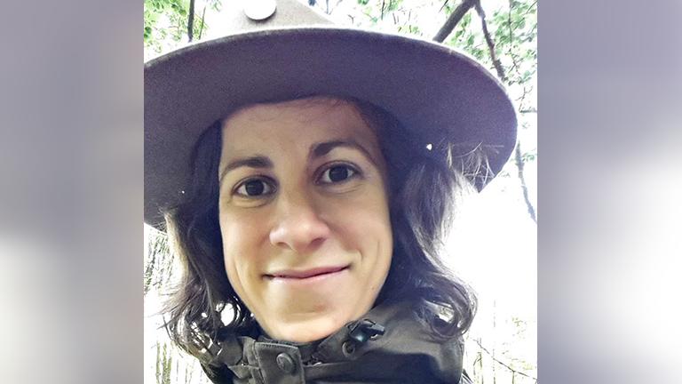 Selfie der Rangerin Christina Winter