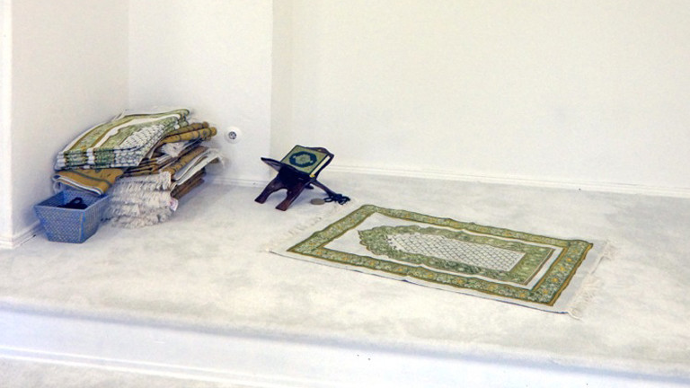 Gebetsraum der Moschee