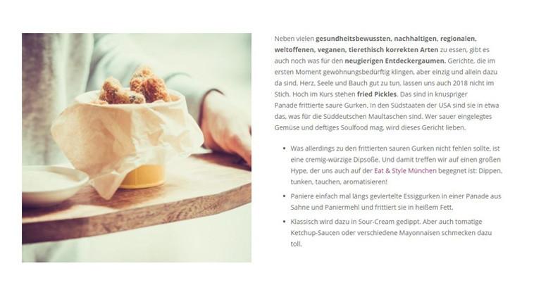 Foodtrend 2018 - frittierte saure Gurken