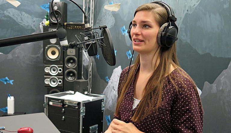 Kristin Mockenhaupt im Studio