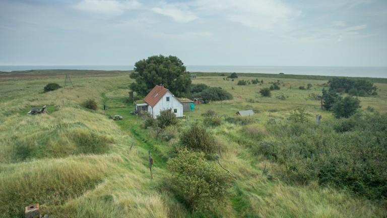 Naturschutzgebiet auf der einsamen Insel Mellum.